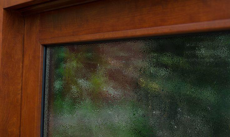 Ventana en madera sólida  Wood window  Más información en: www.ignisterra.com
