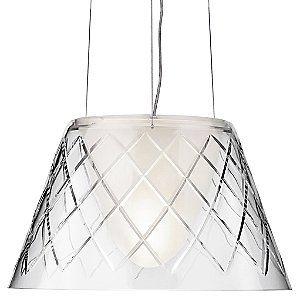 Kitchen:  FLOS Cut glass pendant lamp by Phillipe Stark