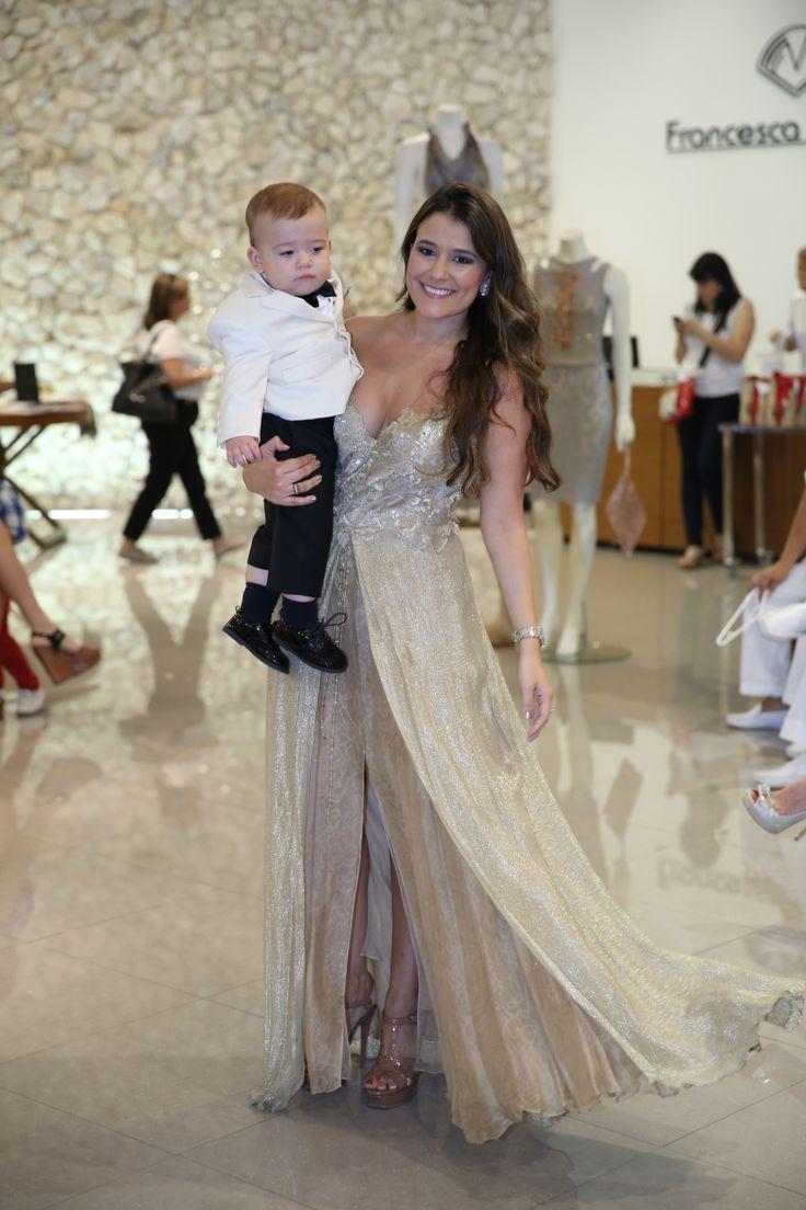 Happy Mum wearing Francesca Miranda Couture