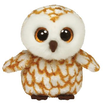 """Swoops the Owl - Medium 9.5"""" """"My big eyes can see at night, so I can fly around by the moonlight !"""" Birthday: September 12 Beanie Boos are an adorable Ty collection of plush full-bodied animals with b"""
