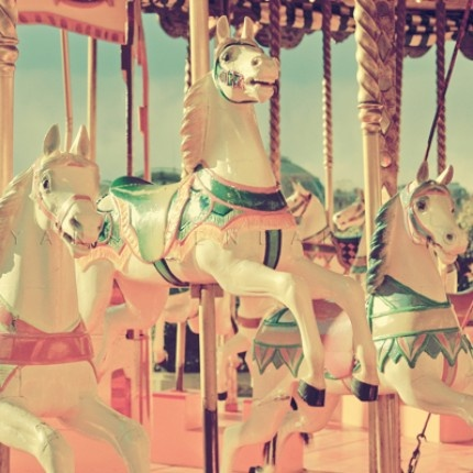 The joy of when you were young, and the carousel was the most wonderful yet most terrifying thing you'd ever done!