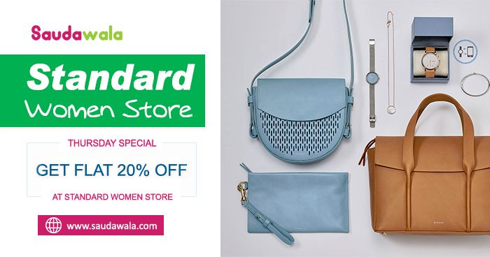THURSDAY SPECIAL : Get Flat 20% Off at Standard Women Store.