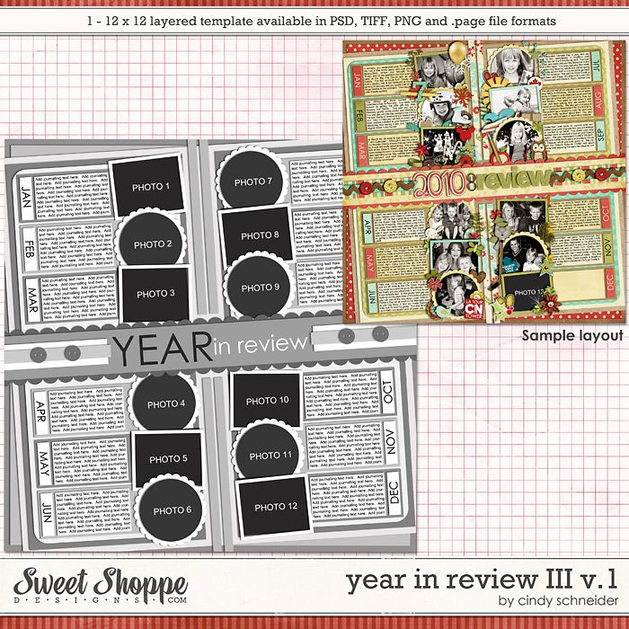 Cindy's Layered Templates - Year in Review III V1 by Cindy Schneider