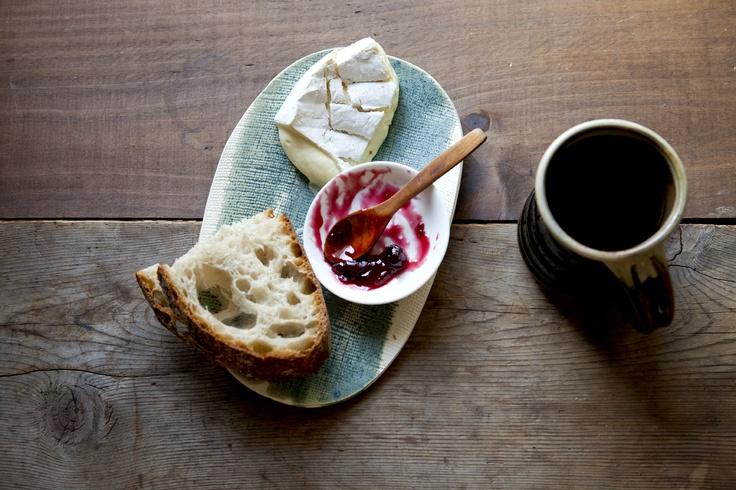 Bread, brie and jam