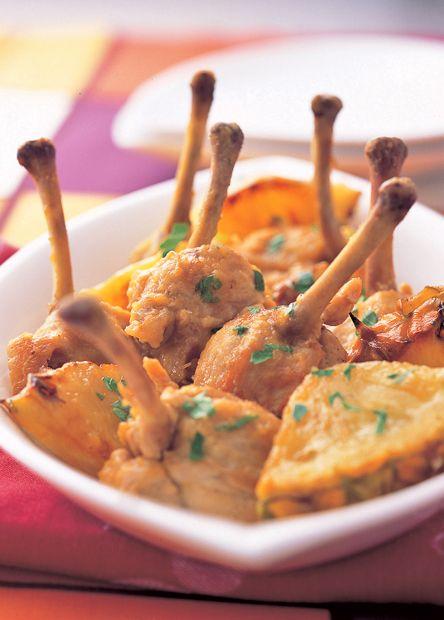レシピ:鶏手羽のパイン煮込み