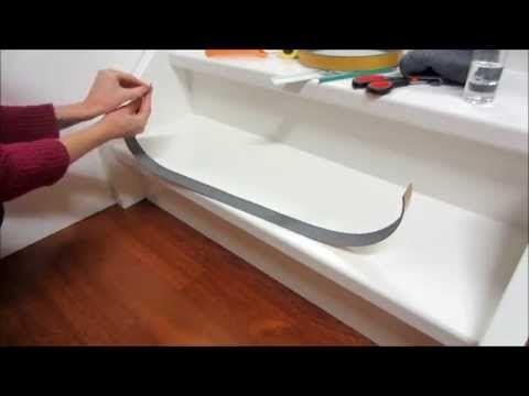 Antislip plakstrippen ook in witte kleur ral 9010 leverbaar!