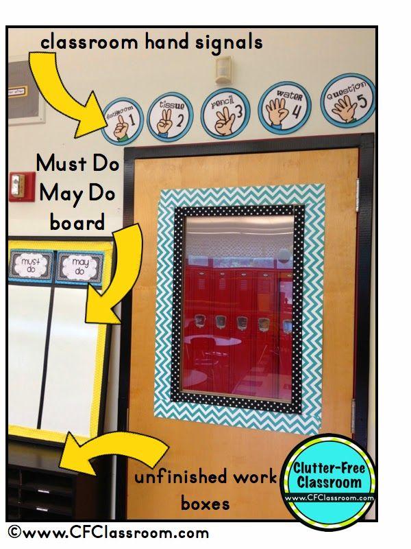 Clutter-Free Classroom: Classroom Door Decor {Classroom Design Photos, Set Up Pictures & Ideas, Organization & Management}