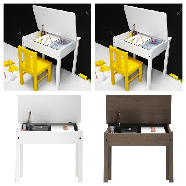 IKEA kid desk, great to store all their craft supplies