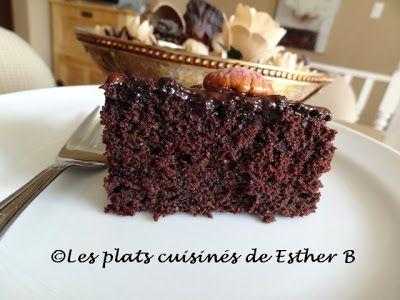 Les plats cuisinés de Esther B: Gâteau texan (Bonne Fête Des Mères!)