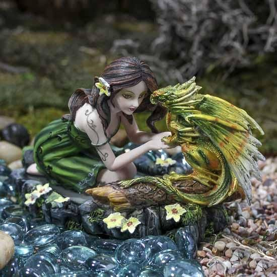 Fairy Nymph and her Dragon Friend