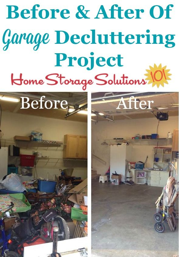 Before And After Collage Of Jessicau0027s Garage Decluttering Project {featured  On #Declutter365 Missions On Part 33