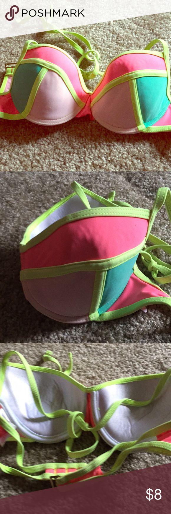 Target bikini top Multicolored fun lightly padded bikini top Xhilaration Swim Bikinis
