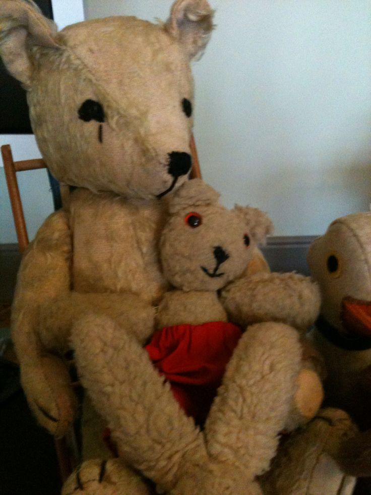 The real OLD BEAR and LITTLE BEAR when Jane Hissey visited the museum.
