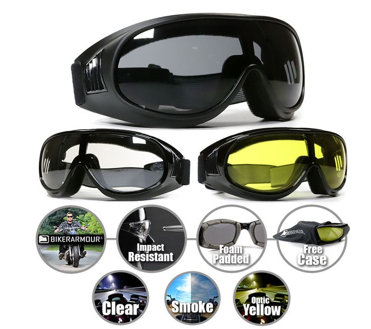 Motorcycle Fit Over Rx Glasses Goggles Riding Biker Sports