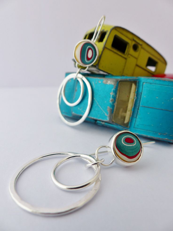 Fordite hoop earrings. Loved the colour in these. Wee bitty sad that they sold!