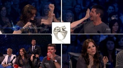 Kara DioGuardi wearing Daphna Simon sterling silver Leopard Ring on American Idol.