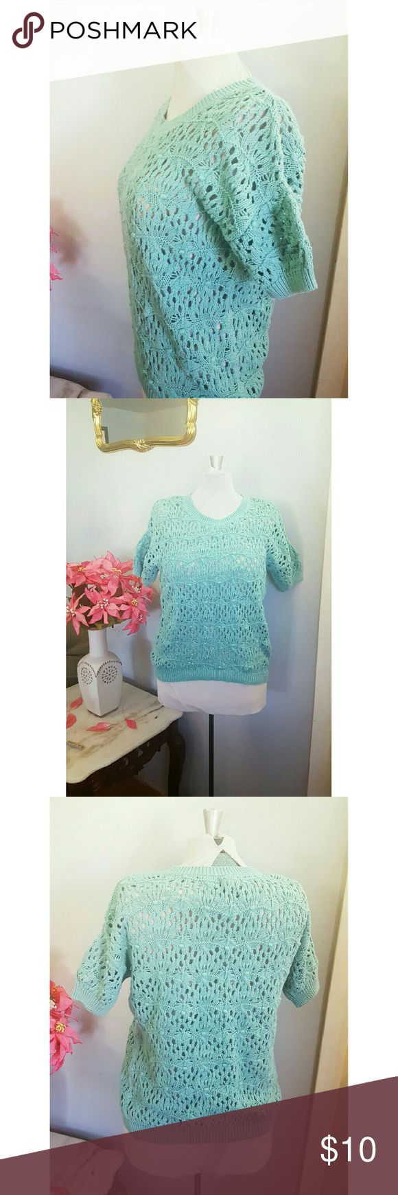 💥Oliva Sky Crochet Short Sleeve Top Brand: Olivia Sky | size small | $10 In very good condition.  Wear it above a bikini or over a tank !  HI my name is Aleja and thank you for stopping by!  Ships same day or next day | smoke and pet free home |Sorry no tryons or trades |24hr holds |Happy to answer all questions:)   Let's be friends on IG: @bella_doncella1107 Olivia sky Tops