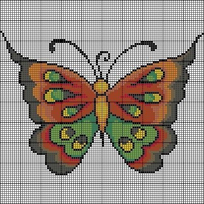 CRUZ DE COSTURA patrones de mariposa «Patrones gratis