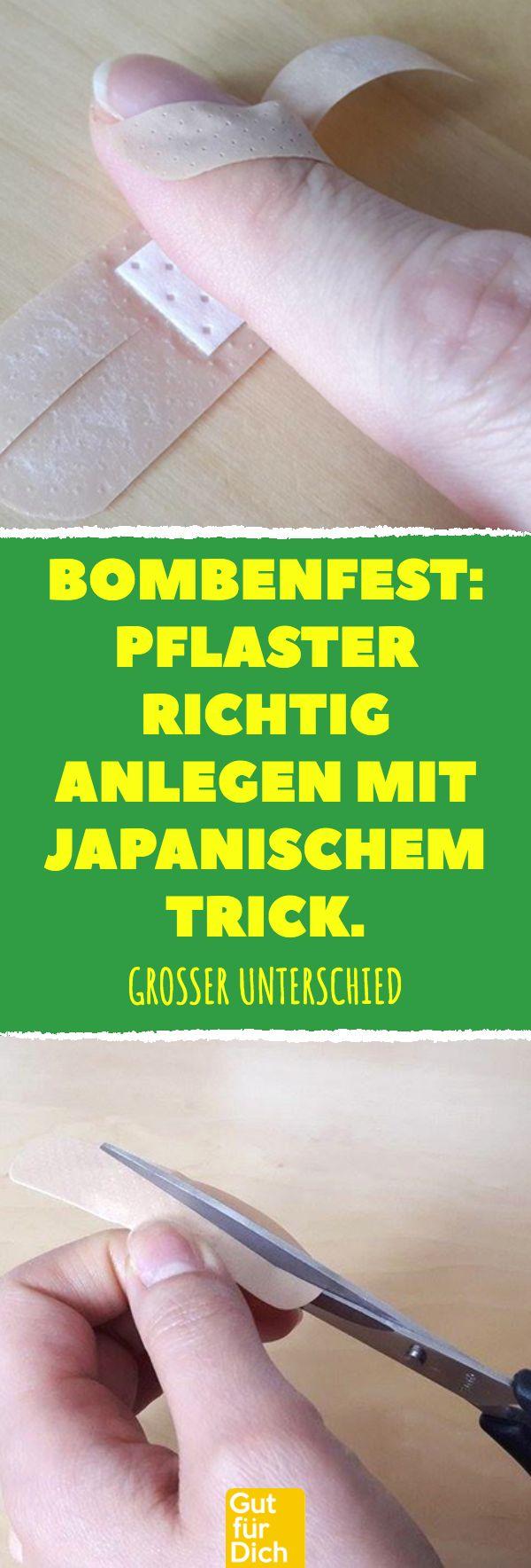 Bombenfest: Pflaster richtig anlegen mit japanischem Trick. #wundversorgung #lif…