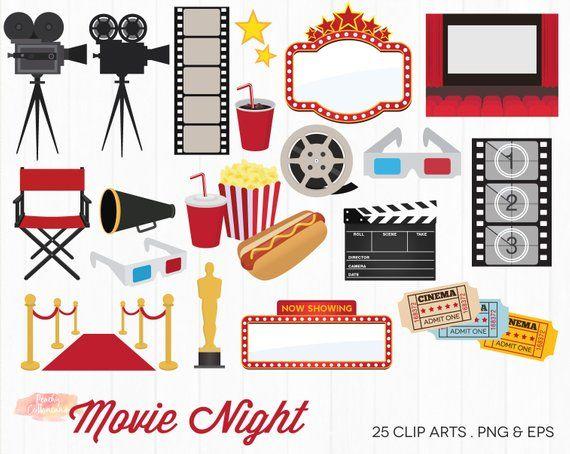 Buy 3 Get 50 Off Movie Night Clipart Movie Clipart Movie Clip Art Film Cinema Clipart Hollywood Clipart Movie Theatre Clip Art Movie Clipart Movie Night Clip Art