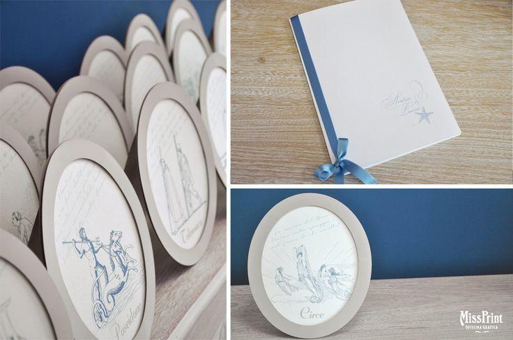 Wedding stationary Odysseus libretto messa e segnatavoli