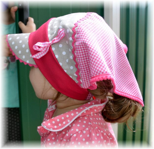 Nähanleitungen Kind - ✿ ebook ✿ Kopftuch mit Schild Lara ✿ Gr.40-54 ✿ - ein Designerstück von Blumenmadchen bei DaWanda