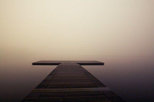 Molo, Drewniane, Jezioro, Ocean