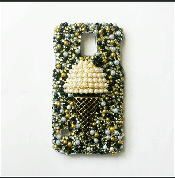 Check out this item in my Etsy shop https://www.etsy.com/listing/215403392/galaxy-s5-case-black-gold-ice-cream