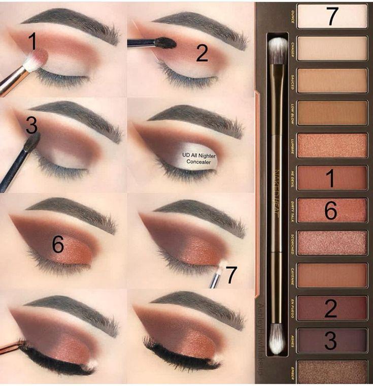 Макияж глаз последовательность в картинках