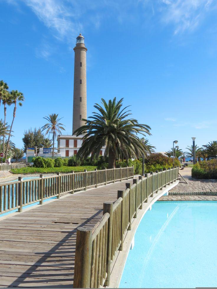 Lighthouse in Maspalomas, Gran Canaria. #GranCanaria #CanaryIslands
