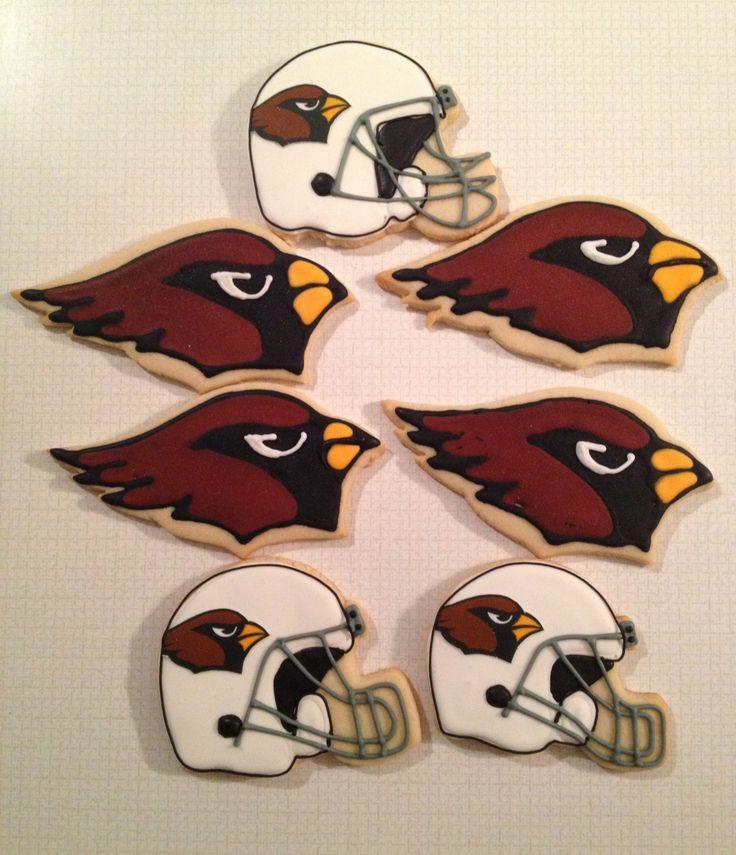 Arizona Cardinal Football Cookies