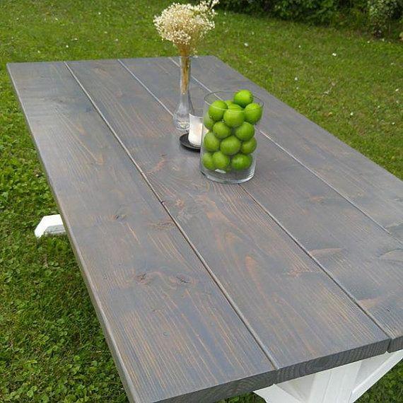 Gris granja casa mesa mesa de caballete de casa granja mesa