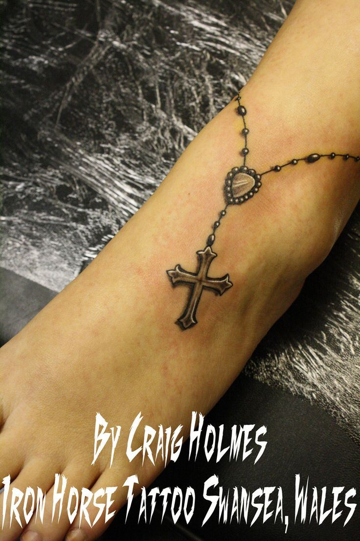 rosary beads with cross tattoo by craig holmes by craigholmestattoo 900 1350. Black Bedroom Furniture Sets. Home Design Ideas