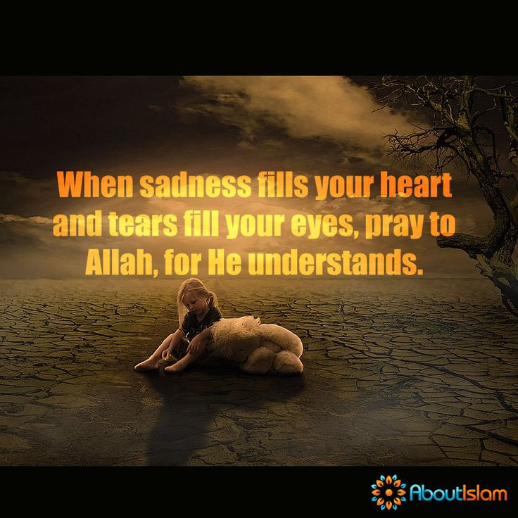 When sadness fills your ❤️ and tears fill your  then pray to Allah.   #Islam #Pray