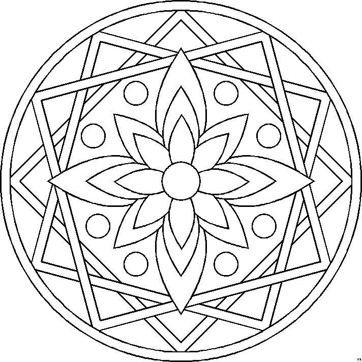 296 best mandalas images on Pinterest | Mandala coloring, Adult ...
