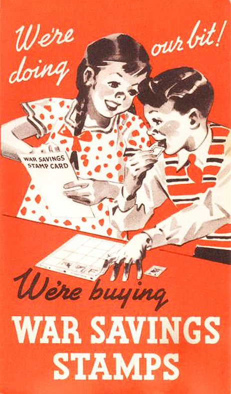 The government coerced Canadian kids into emptying their piggy banks. Children used their pocket money (and in those days, every nickel was hard-earned) to buy War Savings Stamps, which they stuck into special booklets for post-war redemption. A child could buy War Savings Stamps for 25 cents each, and after saving $4 worth of stamps, the child would receive a War Savings Certificate worth $5. Of the $5.5 billion raised in Victory Loan appeals, literally millions were contributed by…