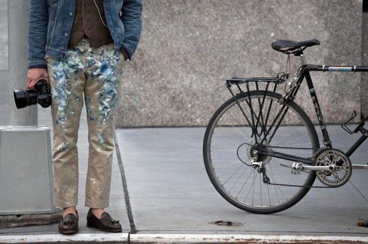 Раскрашенные джинсы