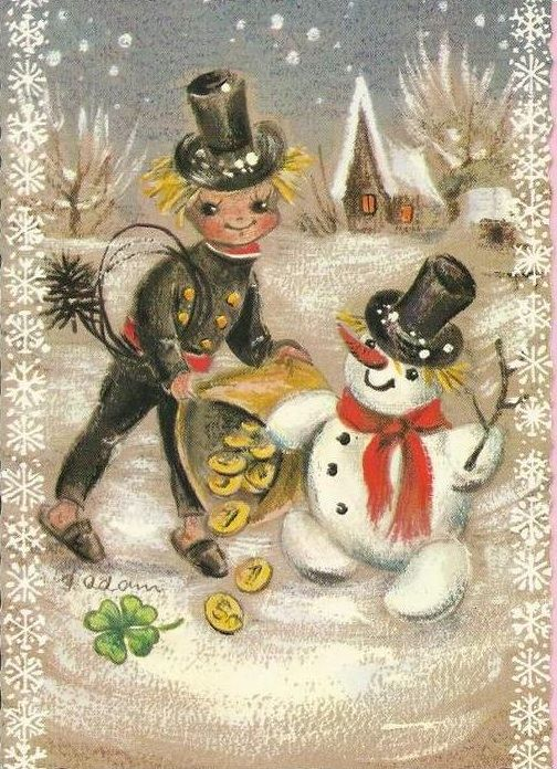 Chimney Sweeper and Frosty. HAPPY BIRTHDAY!!!!