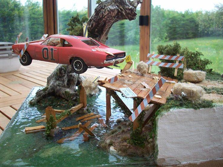 General Lee jump ! 1/24 Scale Model Diorama