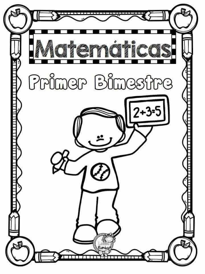 Portada Matemáticas Bloque I -  Enero -Febrero Matemáticas Bloque III