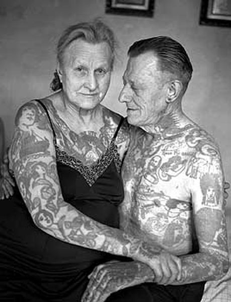 Old Tattoo Couple by essie