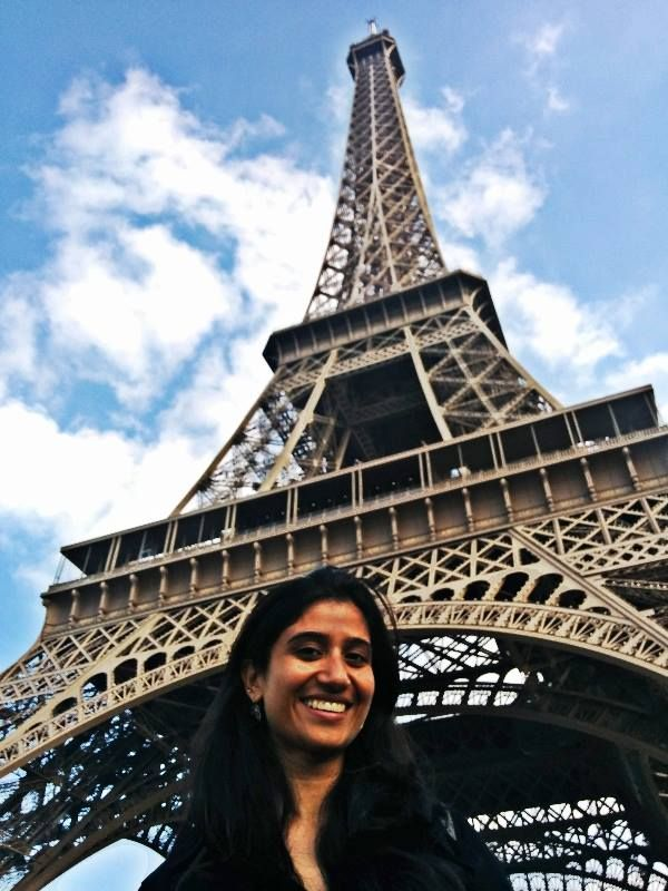 And there Anisha is! At the iconic Eiffel Tower. Did you know, despite its height, the Eiffel Tower was designed to be wind resistant, swaying only a few inches in the wind. It actually moves further when the iron on the sun facing side heats and expands, moving the top up to 7 inches (18 centimetres) away from the sun.