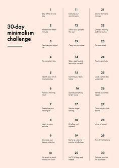 Je suis tombée il y a quelques jours sur le 30-day Minimalisme Challenge. Et comme en ce moment, j'ai grand besoin de repères et de bonnes nouvelles habitudes, j'ai décidé d'y participer, et de le ...