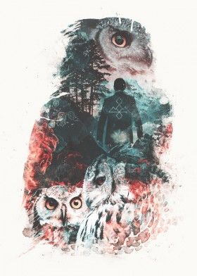 twinpeaks twin peaks tv show cult classic surreal fantasy owl owls fire mountains nature animals red