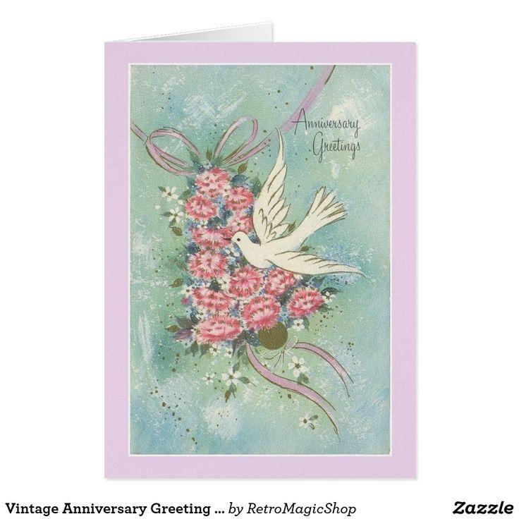wedding anniversary greeting cardhusband%0A Vintage Anniversary Greeting Card