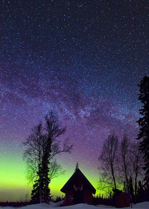 ~~Homestead   aurora borealis, Trapper Creek, Alaska   by Ed Boudreau~~