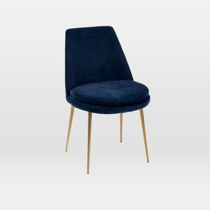 Finley Low Back Upholstered Dining Chair Velvet Dining Chairs