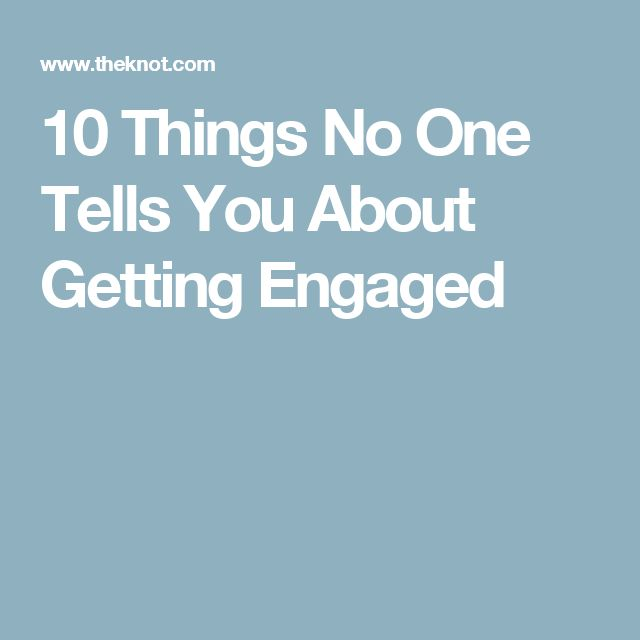 10 Things No One Tells You About Getting Engaged