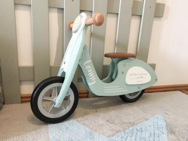 "NEU Little Dutch 4384 Holz Laufrad Roller LoopScooter mint | by Schmatzepuffer® ""personalisierbar"""