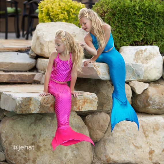 Swimmable Mermaid Tail & Tankini Top without a by OnceUponAMermaid